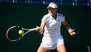 Anett Kontaveit of Estonia in action against Bianca Andreescu of Canada during her second-round match at the 2021 Viking International WTA 500 tennis tournament on June 23, 2021 at Devonshire Park Tennis in Eastbourne, England - Photo Rob Prange / Spain ProSportsImages / DPPI / ProSportsImages / DPPI