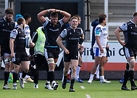 Rugby Union - 2020 / 2021 Gallagher Premiership - Round 13 - Newcastle Falcons vs Bath - Kingston Park<br /> <br /> Tom Penny of Newcastle Falcons scores his teams second try to make it 12-19 to Bath<br /> <br /> Credit : COLORSPORT/BRUCE WHITE