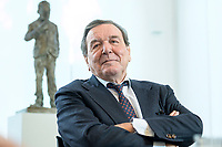 11 DEC 2019, HANNOVER/GERMANY:<br /> Gerhard Schroeder, SPD, Bundeskanzler a.D., waehrend einem Interview, im Buero seiner Anwaltskanzlei<br /> IMAGE: 20191211-01-010<br /> KEYWORDS: Gerhard Schröder, Büro