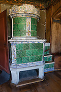 Made in 1687, this green stove from Richlingen depicts personified virtue, in the Upper Chambers of Abbot David von Winkelsheim (1499-1525). St. George's Abbey (Kloster Sankt Georgen) was founded around 1007 as a Benedictine monastery in Stein am Rhein village, on the banks of the Rhine at the western end of Lake Constance. The fascinating Klostermuseum is one of Switzerland's most important historic buildings from the late Middle Ages and early Renaissance, built in the 1300s to 1500s.