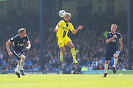 Burton Albion midfielder Marcus Harness (16) heads forward during the EFL Sky Bet League 1 match between Southend United and Burton Albion at Roots Hall, Southend, England on 22 April 2019.