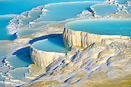 Photo & Image  of Pamukkale Travetine Terrace, Turkey. Images of the white Calcium carbonate rock formations. Buy as stock photos or as photo art prints. 5 Pamukkale travetine terrace water cascades, composed of white Calcium carbonate rock formations, Pamukkale, Anatolia, Turkey .<br /> <br /> If you prefer to buy from our ALAMY PHOTO LIBRARY  Collection visit : https://www.alamy.com/portfolio/paul-williams-funkystock/pamukkale-hierapolis-turkey.html<br /> <br /> Visit our TURKEY PHOTO COLLECTIONS for more photos to download or buy as wall art prints https://funkystock.photoshelter.com/gallery-collection/3f-Pictures-of-Turkey-Turkey-Photos-Images-Fotos/C0000U.hJWkZxAbg
