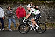 France, October 9 2011: Matt BRAMMEIER, HTC - HIGHROAD, climbs the Côte de l'Epan climb of the 2011 edition of the Paris Tours cycle race. Copyright 2011 Peter Horrell