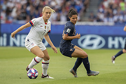 Abby DAHLKEMPER (USA), Valerie GAUVIN (FRA) during the FIFA Women's World Cup France v USA 1/4 match at Parc Des Princes stadium on June 28, 2019 in Paris, France. USA won 2-1. Photo by Loic Baratoux/ABACAPRESS.COM