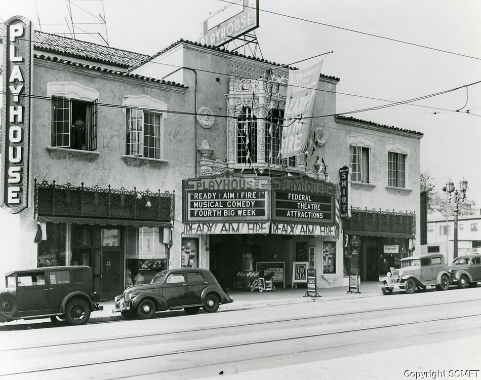 1937 Hollywood Playhouse Theater on Vine St.
