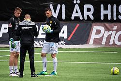 June 21, 2018 - GöTeborg, SVERIGE - 180621 Elfsborgs mÃ¥lvakt Kevin Stuhr Ellegaard och mÃ¥lvakt David Olsson diskuterar med mÃ¥lvaktstränare Ulf Thorsson under uppvärmningen innan träningsmatchen i fotboll mellan de Allsvenska lagen Häcken och Elfsborg den 21 juni 2018 i Göteborg  (Credit Image: © JÖRgen Jarnberger/Bildbyran via ZUMA Press)