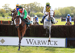 Cobra De Mai ridden by Harry Skelton on his way to winning the Watch Racing UK On BT TV Novices' Handicap Chase