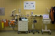Maternity monitoring equipment in German Red Cross hospital, Berlin.