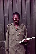 John Kokole Thomas, a young SLPA peer counselor at a VCT.