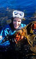 Dr. Sylvia Earle diving in Monterey Bay.