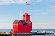 64795-03207 Holland Lighthouse (Big Red) on Lake Michigan Holland, MI