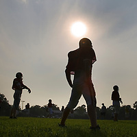 (SPORTS) Keyport 7/19/2005 The All Shore Monmouth Team has the sun beat down on them during practice at Keyport High School.   Michael J. Treola Staff Photographer....MJT