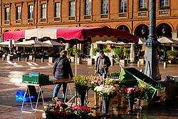 Street market in the Place de Capitol, Toulouse, France<br /> <br /> (c) Andrew Wilson | Edinburgh Elite media