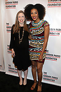 NEW YORK, NEW YORK-JUNE 4: (L-R) Chelsea Clinton (Honoree) and Actress Sarah Jones  attend the 2019 Gordon Parks Foundation Awards Dinner and Auction Red Carpet celebrating the Arts & Social Justice held at Cipriani 42nd Street on June 4, 2019 in New York City.  (photo by terrence jennings/terrencejennings.com)