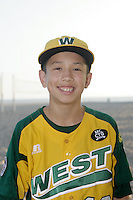 26 September 2011:  #12 Eric Anderson 2011 Little League Baseball World Series Championship team portrait northside of the Huntington Beach Pier at sunset in Southern California.  Ocean View team WEST beat Hamamtsu City, Japan, 2-1, to become the seventh team from California to win the title on August 28, 2011 in South Williamsport, PA.