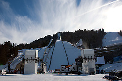 03.02.2011, Garmisch Partenkirchen, GER, FIS Alpine World Championships Garmisch Partenkirchen, Vorberichte, im Bild Preview images for the 2011 Alpine skiing World Championships. A general view of the opening ceremony area as workers prepare it for the event, EXPA Pictures © 2011, PhotoCredit: EXPA/ M. Gunn