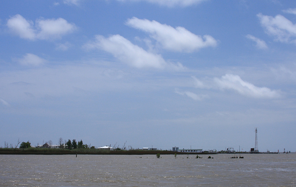 Approaching Pilottown on the Mississippi River