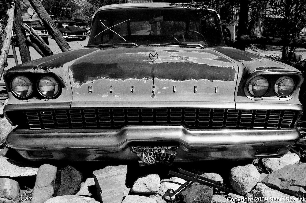An old abandoned Mercury in a rock pile. Missoula Photographer