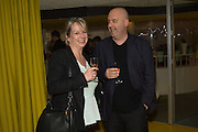 ESZTER PATAKI; TIBOR FISCHER, Launch of ' More Human',  Designing a World Where People Come First' by Steve Hilton. Party held at Second Home in Princelet St, off Brick Lane, London. 19 May 2015.