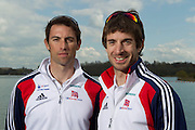 Mcc0038874 . Daily Telegraph..DT Sport..Lightweight men's Double Scull Mark Hunter and Zac Purchase.The announcement of the GB Rowing Crews for the first World Cup.. .Reading 4 April 2012