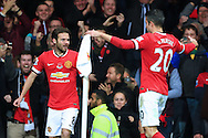 Juan Mata of Manchester United celebrates scoring the opening goal - Manchester United vs. Crystal Palace - Barclay's Premier League - Old Trafford - Manchester - 08/11/2014 Pic Philip Oldham/Sportimage