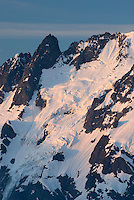 North face of Mount Shuksan 9,127 feet (2,782 metres), view of the Price Glacier and Nooksack Tower