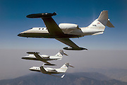 Learjet 35A and 25 with G-IIW