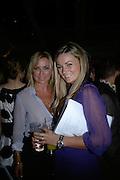 Meg Matthews and Gemma Pike, Laurent Perrier Pop Art Pink party. Suka at Sanderson. Berners St. London. 25 April 2007.  -DO NOT ARCHIVE-© Copyright Photograph by Dafydd Jones. 248 Clapham Rd. London SW9 0PZ. Tel 0207 820 0771. www.dafjones.com.