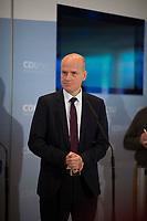 DEU, Deutschland, Germany, Berlin, 06.11.2018: Der CDU/CSU-Fraktionsvorsitzende Ralph Brinkhaus bei einem Pressestatement vor der Fraktionssitzung der CDU/CSU.