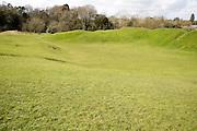 Roman amphitheatre, Cirencester, Gloucestershire, England, UK