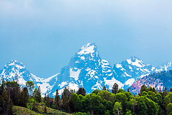 The Grand Tetons from the Gros Ventre Valley of Jackson Hole, Wyoming