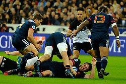 November 11, 2017 - Saint Denis, Seine Saint Denis, France - French team Lock PAUL GABRILLAGUES in action during the friendly match between France and New Zealand at the Stade de France - St Denis - France.New Zealand beats France 38-18 (Credit Image: © Pierre Stevenin via ZUMA Wire)