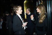 KRISTEN SCOTT THOMAS; JEMIMA KHAN;, Party to celebrate Vanity Fair's very British Hollywood issue. Hosted by Vanity Fair and Working Title. Beaufort Bar, Savoy Hotel. London. 6 Feb 2015