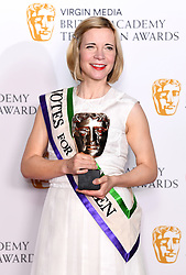 Lucy Worsley in the press room during the Virgin Media BAFTA TV awards, held at the Royal Festival Hall in London. Photo credit should read: Doug Peters/EMPICS