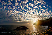 Dramatic cloud formations at sunset  over Dana Point
