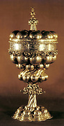 Silver goblet. Russian 17th century.  Metal