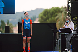 Erica Magnaldi (ITA) at the 2020 La Course By Le Tour with FDJ, a 96 km road race in Nice, France on August 29, 2020. Photo by Sean Robinson/velofocus.com
