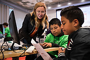 The Computer History Museum hosts a Youth Education Program at the Computer History Museum in Mountain View, California, on May 18, 2019. (Jim Gensheimer for SOSKIphoto)