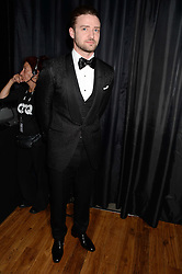 JUSTIN TIMBERLAKE at the GQ Men of The Year Awards 2013 in association with Hugo Boss held at the Royal Opera House, London on 3rd September 2013.