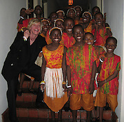 Ellen DeGeneres with The African Children's Choir .ONE.org Event to Fight Global Poverty .Chateau Marmont.West Hollywood, CA, USA.Friday, March 3, 2006.Photo By Celebrityvibe.com/Photovibe.com; .To license this image please call Phone: (212) 410 5354, or.email: sales@celebrityvibe.com; website: www.celebrityvibe.com.....