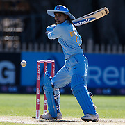 Mathali Raj batting during the match between New Zealand and India in the Super 6 stage of the ICC Women's World Cup Cricket tournament at North Sydney  Oval, Sydney, Australia on March 17, 2009. New Zealand beat India by 5 wickets. Photo Tim Clayton
