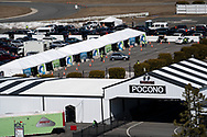 Lehigh Valley Health Network holds a COVID-19 mass vaccination clinic Mar. 20, 2021, at Pocono Raceway in Long Pond, Pennsylvania. Administrators were expected to vaccinate 3,000 people in the state of Pennsylvania's Phase 1A with the Moderna vaccine.