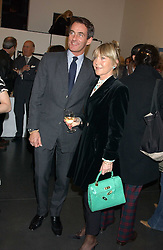 TIM JEFFERIES and ROSEMARY, MARCHIONESS OF NORTHAMPTON at a private view of paintings by Rosita Marlborough (The Duchess of Marlborough) held at Hamiltons gallery, Carlos Place, London W1 on 9th November 2005.<br /> <br /> NON EXCLUSIVE - WORLD RIGHTS