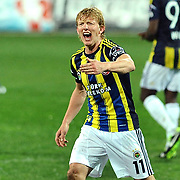 Fenerbahce's Dirk Kuijt during their Turkish SuperLeague Derby match Trabzonspor between Fenerbahce at the Avni Aker Stadium at Trabzon Turkey on Sunday, 17 February 2013. Photo by TURKPIX