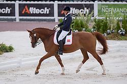 Jutta Rus Machan, (AUT), Prada - Team Competition Grade IV Para Dressage - Alltech FEI World Equestrian Games™ 2014 - Normandy, France.<br /> © Hippo Foto Team - Jon Stroud <br /> 25/06/14