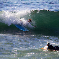 USA, California, San Diego. Surfer at Windansea, La Jolla.