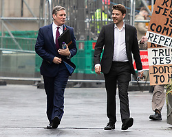 © Licensed to London News Pictures. FILE PICTURE DATED 09/11/2020. London, UK. Labour Party Leader Sir Keir Starmer (l) departs LBC Studios with Labour Party Director of Communications Ben Nunn(r) after appearing on Nick Ferrari at Breakfast. It has been reported that Ben Nunn is stepping down to pursue other projects  after working for the Labour Party since 2016. Photo credit: George Cracknell Wright/LNP