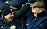 Photo: Alan Crowhurst.<br />Swindon Town v Macclesfield Town. Coca Cola League 2. 27/01/2007. Swindon director Willie Carson (L) enjoys a laugh with a friend.