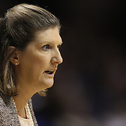 Connecticut Sun head coach Anne Donovan on the sideline during the Connecticut Sun Vs Seattle Storm WNBA regular season game at Mohegan Sun Arena, Uncasville, Connecticut, USA. 23rd May 2014. Photo Tim Clayton