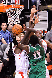 October 19, 2018 - Toronto, Ontario, Canada - Kyrie Irving #11 of the Boston Celtics shoots the ball during the Toronto Raptors vs Boston Celtics NBA regular season game at Scotiabank Arena on October 19, 2018 in Toronto, Canada (Toronto Raptors win 113-101) (Credit Image: © Anatoliy Cherkasov/NurPhoto via ZUMA Press)
